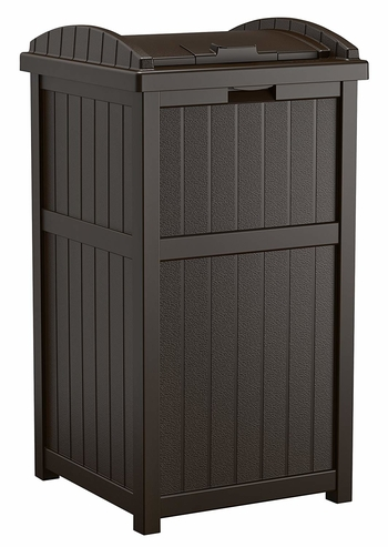 Suncast 33 Gallon Outdoor Trash Can