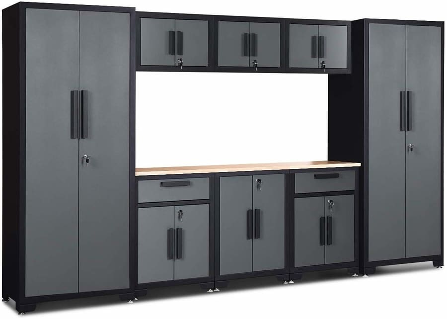 Goplus 9 Piece Garage Storage Cabinet Set