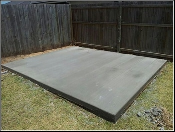 Concrete Slab For a Shed