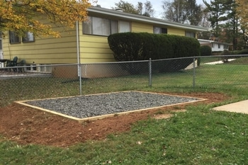 Gravel Foundation With Perimeter