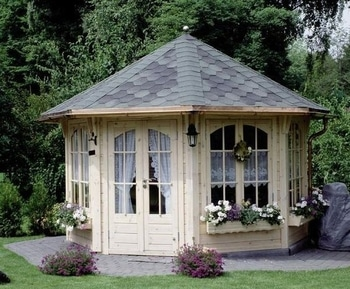 Octagon Roof on Shed